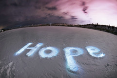 Hope (Tasha Mare) Tags: camera winter light sky white lake snow canada cold calgary ice marie night painting photography hope frozen nikon frost letters nighttime alberta glowing tasha d7000 thephotographyqueen tashamariephotography teapalm