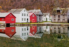 Norwegian Village (John & Tina Reid) Tags: autumn norway travelphotography sognfjord laerdal norwegiandesign jonreid tinareid norwegianarchitecture httpnomadicvisioncom norwayvillage