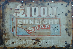 Sunlight Soap Sign Elsecar Heritage Railway  Barnsley Yorkshire (woodytyke) Tags: county old uk england sunlight west building english heritage history tourism sign metal stone wall port advertising photography photo soap mine brothers britain yorkshire centre united great north engine rusty railway kingdom pit steam mining beam