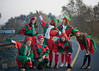 Elves (Lisa Ouellette) Tags: california holidays trains oldbuildings polarexpress unionpacific sacramento holidaylights elves oldsacramento southernpacificlines nrhp southernpacificrailroad westernpacificrr