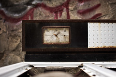 countdown (twistedanchor) Tags: abandoned clock kitchen barn austin texas oven tx urbandecay stove homestead timer stable deserted atx