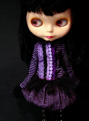 black and purple whimsy set