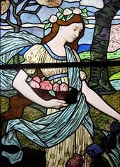 """""""Le Printemps"""" - Spring stained glass (by Eugène Grasset) (Sokleine) Tags: paris france museum interior indoor musée artnouveau 75001 grasset eugènegrasset muséedesartsdécoratifsparis"""