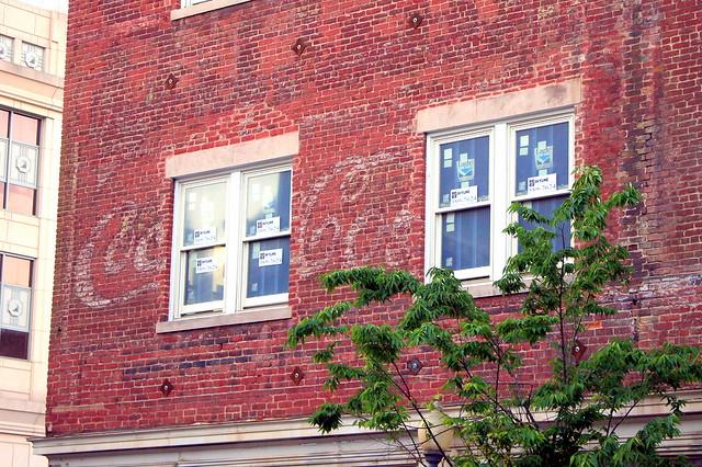 Faded Coca-Cola Mural - Downtown Roanoke, VA