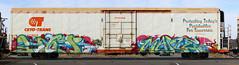 Kaer67 Maple (Eclectic Dyslexic) Tags: train de graffiti maple wd 67 freight kaer tci
