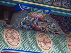 Nikko  - Toshogu Shrine  - Wooden Sculpture  () Tags: wood sculpture japan shrine  colored nikko   japon bois gilt color toshogu   sanctuaire dorure
