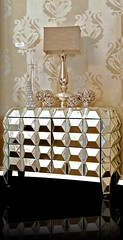 "4172 FACETED MIRRORED NIGHT STAND • <a style=""font-size:0.8em;"" href=""http://www.flickr.com/photos/43749930@N04/6585489865/"" target=""_blank"">View on Flickr</a>"
