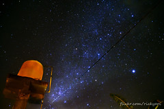 Those stars are there, above our water tower (Ricky Nugraha) Tags: bali night stars star planet astronomy dust milkyway beratan bedugul buyan