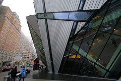 Michael Lee-Chin Crystal at the ROM (stormdog42) Tags: street city 2002 winter sky urban ontario canada architecture modern rom royalontariomuseum daniellibeskind bloorstreet deconstructivist michaelleechincrystal sneakyselfportrait