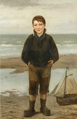 Henri Jacques Bource (Belgian, 1816-1899) The Young Fisherman (oldsailro) Tags: park old boy sea summer people sun lake playing beach water pool girl sunshine youth sailboat race vintage children fun toy boat miniature wooden pond model waves sailing ship child time yacht antique group boom mat regatta hull spectators watercraft adolescence keel fashioned henrijacquesbourcebelgian 18161899theyoungfisherman