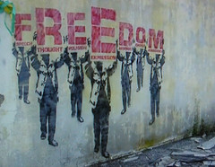FREEDOM (andres musta) Tags: freedom stencil palestine human rights