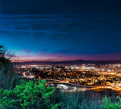 Sunset over Roanoke (Explored) (Michael Kline) Tags: sunset mountain mill virginia january roanoke 2012