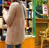 Irini is modeling her new jacket! (sifis) Tags: wool canon shopping knitting knit merino athens jacket cardigan αθήνα sakalak σακαλακ πλεκτό μαλλιά πλέξιμο πλέκω greeceyarn
