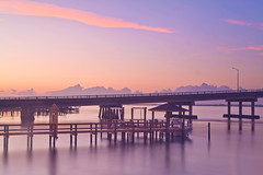 Pathways (headcycle) Tags: ocean city bridge pink blue orange beach water clouds sunrise canon pier nc dock atlantic nd morehead waterway intercoastal density neutral superaplus aplusphoto mygearandme
