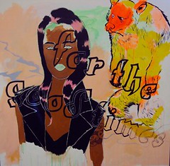 """""""For the good times"""" (2011), Acrylic on canvas, by Molly Rangiwai-McHale (Colour Me Fiji) Tags: southauckland pacificart freshgalleryotara"""