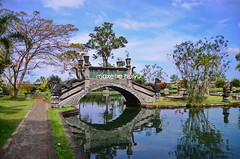 Water Palace in Tirta Gangga (myu) Tags: travel bali water fountain photography lotus palace east tirta tiered myu maxene huiyu gangga d7000