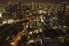 Wild Osaka. V2 (Alberto Sen (www.albertosen.es)) Tags: city red japan skyline night lights noche nikon ciudad alberto osaka japon sen rascacielos d300s albertorg albertosen