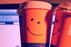 """You're the cream in my coffee"" (LOOK_photography) Tags: boy 2 love coffee girl kiss go boredom danbo"