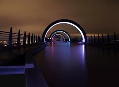 THE DARK CANAL IN THE SKY (kenny barker) Tags: longexposure winter blur water night lumix scotland canal lock panasonic motionblur falkirk falkirkwheel gf1 trolledproud panasonicgf1 kennybarker