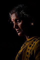 The life of a woman... (Rakesh JV) Tags: show life street light portrait woman india black color festival point temple photography to