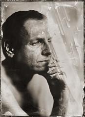 Tomasz (Maciek Lesniak) Tags: portrait man male wet zeiss large plate format tessar collodion 13x18 globica
