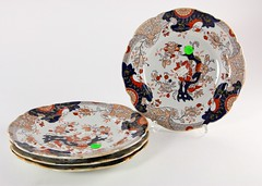 12. Antique English Imari Plates