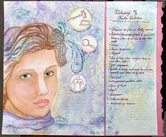 Life Book: Week 1 - Tamara Laporte's Lesson (Princess La) Tags: mixedmedia journal lifebook willowing