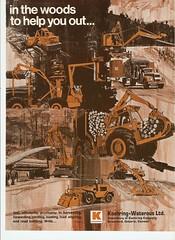 Koehring-Waterous Ltd. 1970 (The Koehring Guy) Tags: wood advertisement short 1970 load harvester bantam liners forwarder shortwood koehring aligners teleskoop
