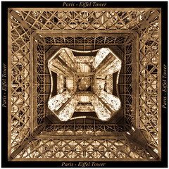 Paris - Eiffel Tower from underneath . . . (Beauty Eye) Tags: city longexposure paris france eye tower sepia night canon french landscape eos rebel lights europe exposure day tour outdoor eiffeltower eiffel toureiffel network tamron fr t3i europen ultrawideangle f3545 600d  leurope deparis freanch  paris beautyeye 1024mm  canon600d eneurope  tamronspaf1024mmf3545diiild rebelt3i diiild canon600deos tamronspaf1024mmf3545d