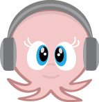 Octopus with headphones