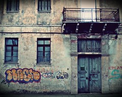 Ioannina, Greece - January 2012 (PattyK.) Tags: city urban streetart abandoned nikon ruins europa europe decay hometown urbandecay neglected citylife wallart urbanart coolpix balkans myphoto citycenter whereilive europeanunion oldcity mycity lifeinthecity urbanlife  urbanabstracts nikoncoolpix urbanfragments ioannina giannina inthecity giannena epirus  greekcity ipiros   oldandbeautiful lovelycity      jannina jannena        kountouriotou     mybeautifulhometown   kountouriotoustreet