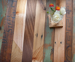 Re|Surface macro (MagneticGrain) Tags: vintage table modular patchwork reclaimedwood repurposedmaterials ecofurniture salvagedwood craftfurniture