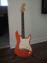 1997 fender california series strat (levonhelmet) Tags: california red fiesta fender 1997 series stratocaster