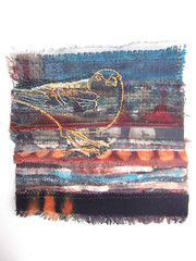 Chaffinch (Rosalind Lymer) Tags: bird art collage embroidery textile stitching ros lymer fragmentsstitching