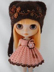 Felted Hat for kohay (Leshan1) Tags: hat crochet blythe leshan feltedhat dolldress dollcrochet blythecrochet leshancrochet