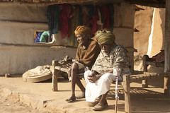 old pals passing time... (durgeshnandini) Tags: old india village dslr jaipur twooldmen canoneos400ddigital durgeshnandini