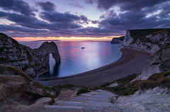 Durdle Door at Dusk, Jurassic Coast, Dorset, England, UK (David Briard) Tags: uk sunset england dorset durdledoor jurassiccoast pentaxda1224mm pentaxk5