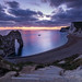 Durdle Door at Dusk, Jurassic Coast, Dorset, England, UK