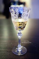 "My glass of Macon Milly-Lamartine ""Clos du Four"" Récolte 2006 (thewanderingeater) Tags: chicago illinois lincolnpark finedining tastingmenu alinea grantachatz tastingdinner progressiveamericanfood 3michelinrestaurant 35hourlongdinner"