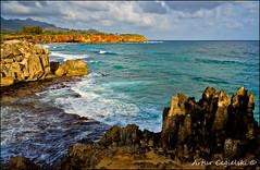 Makawehi Lithified Cliffs, Poipu, Kauai, Hawaii (Artvet) Tags:
