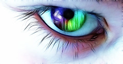 ~Explored Jan.30,2012 #330~ (~~Denise~~) Tags: eye canon rainbow 100v10f powershot elements multicolored pse specialeffects fractalius sx30