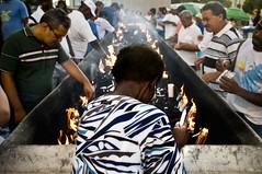 Fé Cega (Tiago Calazans) Tags: santa brazil luz brasil mulher igreja recife vela fogo negra morro senhora religião fé fumaça catolicos morrodaconceição nossasenhoradaconceição devotos fécega festadenossasenhoradaconceição