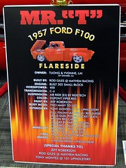 "MR.""T"" (bballchico) Tags: ford truck pickup f100 1957 mrt gnrs2012 grandnationalroadstershow2012 tuongyvonnelai photobballchico2012"