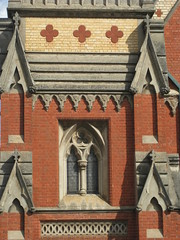 Detailing of the Former Congregational Church  Corner Mair and Dawson Streets, Ballarat (raaen99) Tags: city windows building church window stone architecture religious bricks religion gothic wroughtiron 19thcentury victorian australia victoria artnouveau victoriana historical ornate nouveau ballarat goldrush redbrick nineteenthcentury finial stainedglasswindows gothicrevival placeofworship 1880s 1882 countryvictoria 1881 polychromatic congregationalchurch redbrickchurch dawsonstreet dawsonst gothicrevivalarchitecture religiousbuilding congregationalist goldrushera brickandstone polychromaticbrick provincialvictoria englishgothicrevival mairstreet henrycaselli architecturallydesigned gothicrevivalchurch jadoane mairst charlesfiggis gothicrevivalcathedral ballaratcongregationalchurch charlesdougasfiggis henryrichardscaselli molloyandchandler molloychandler