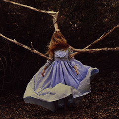 the sharing game (brookeshaden) Tags: nature girl fairytale forest woods branches surreal whimsical fineartphotography brookeshaden texturebylesbrumes