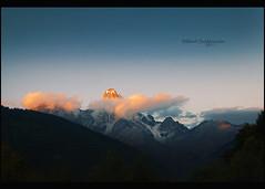 Sunset on Ushba / Svanetia / Svaneti / Mestia / მესტია / სვანეთი / უშბა