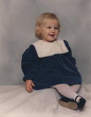I sewed this dress (Janesews) Tags: bluedress velvetbluedress