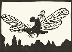 Waldemar Bonsels / Himmelsvolk / Bild 3 (micky the pixel) Tags: illustration buch book elfe childrensbook libelle livre fairytales märchen scherenschnitt kinderbuch waldemarbonsels himmelsvolk margareteschreiber