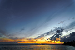 #850C9798- Colors of sunset Melawai (crimsonbelt) Tags: sunset beach colors clouds balikpapan melawai