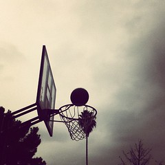 BasketBall (tofu6161) Tags: tree net basketball clouds hoop square basket palmtree squareformat brannan cloudyday iphoneography instagramapp uploaded:by=instagram